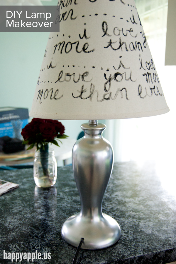 DIY Lamp Writing