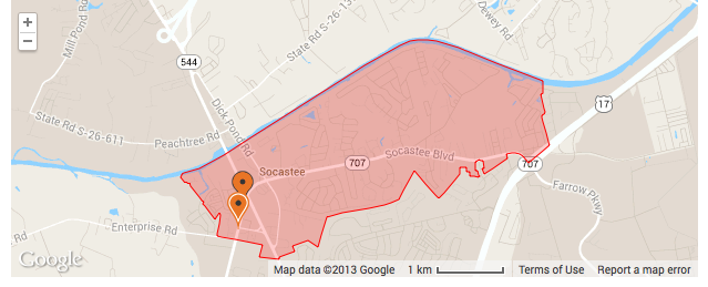 Socastee Elementary District Lines